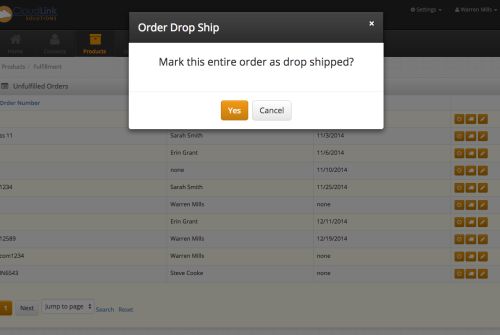 Mark orders that you won't handle the inventory for as drop shipped from the vendor, while automatically creating a drop ship purchase order.