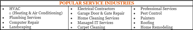 service industries
